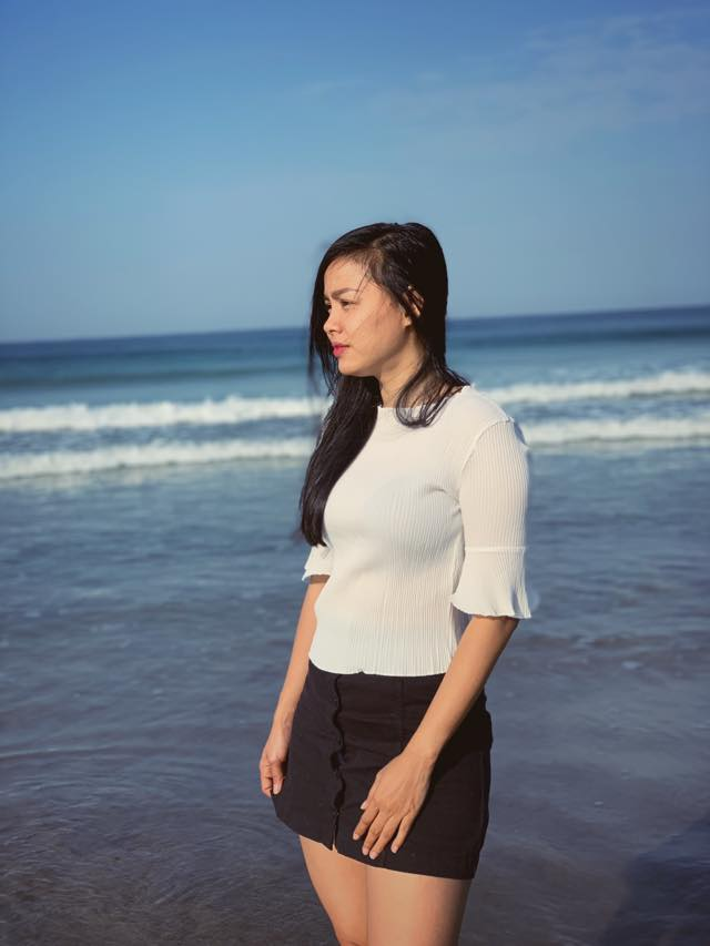 Ma Aye Thaung At The Beach Photoshoot
