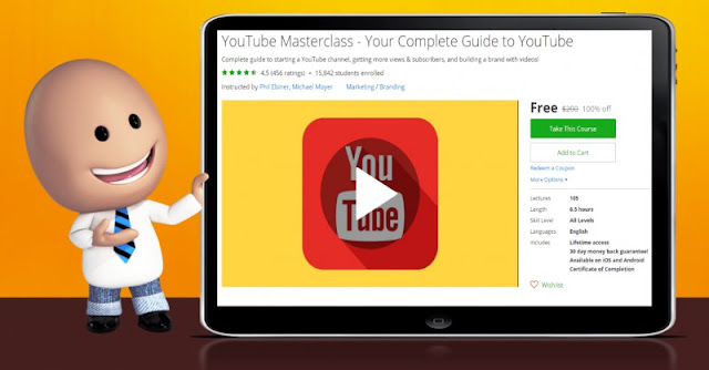 [100% Off] YouTube Masterclass - Your Complete Guide to YouTube| Worth 200$