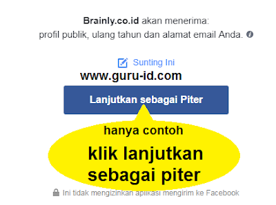 gambar login brainly lewat fb