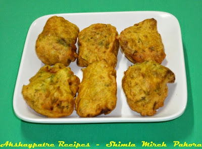 dhobli mirchi bhaji in a serving plate
