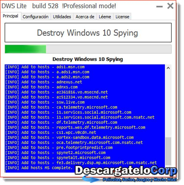 Destroy Windows 10 Spying v1.5.535 Español