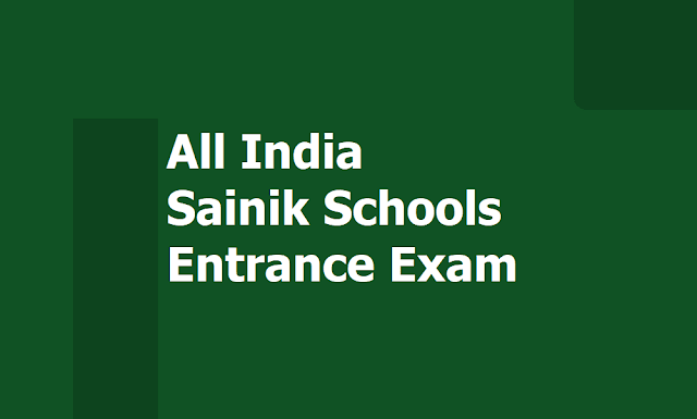 All India Sainik Schools Entrance Exam 2020 Notification, Apply Online up to September 23