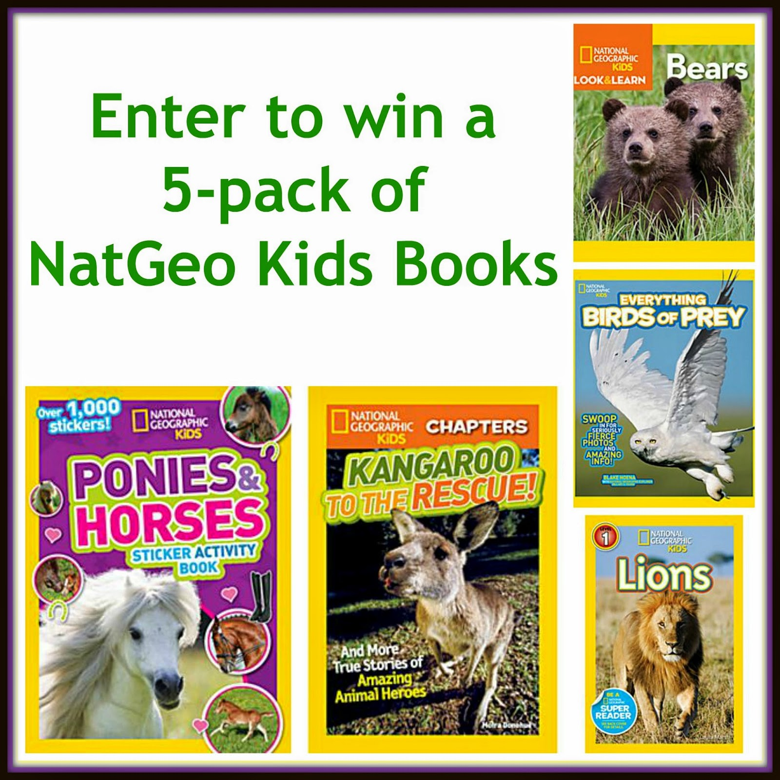 Go WILD with National Geographic Kids Books + #Giveaway