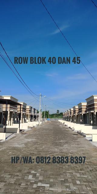 Row Jalan Rumah Murah Tipe 40 Di Taman Palem Mas Tanjung Morawa Medan Sumatera Utara