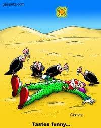 Funny Vulture Clown Tastes Image
