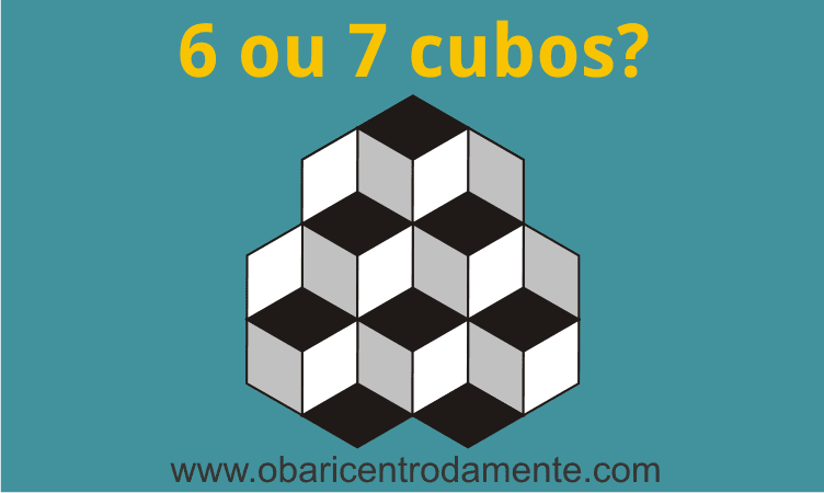 Ilusão de ótica: 6 ou 7 cubos?