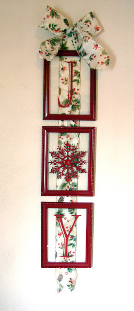 Fireflies And Jellybeans Easy Christmas Decor Frames