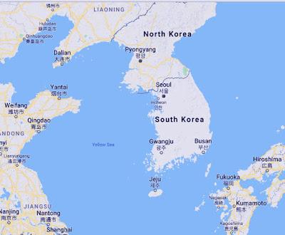 Gambar peta Korea Selatan dengan negara tetangga