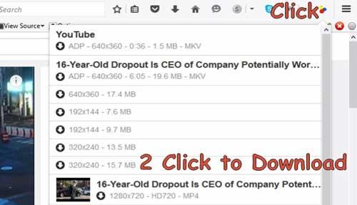 Video Downloader Helper for Mozilla Firefox