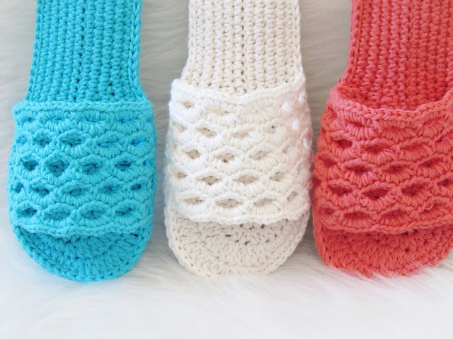 Crochet Slipper Pattern for Summer