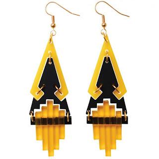 Tetra Saffron Earrings - Toolally Jewellery - Jewellery Blog