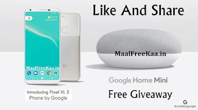 free google pixel 2 xl and google home mini