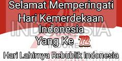 Selamat Hari Kemerdekaan 17 Agustus Yang Ke 72 - Dirgahayu Republik Indonesia