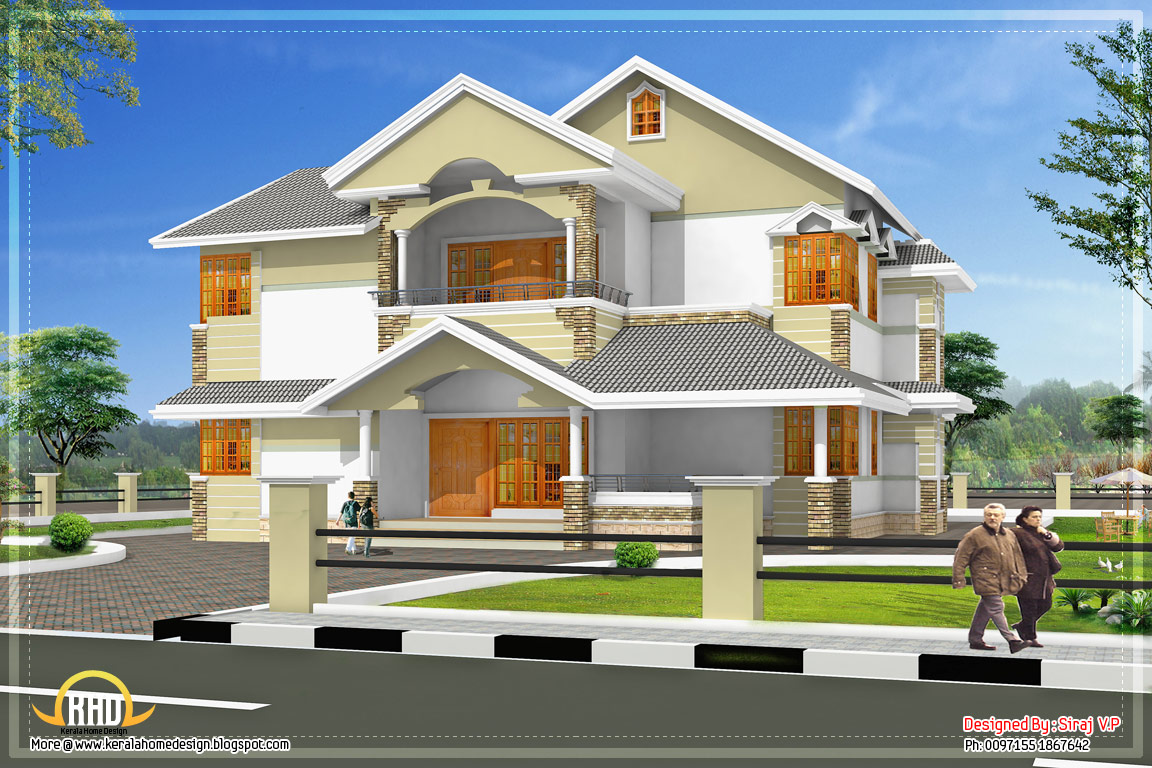 April 2012 kerala home design and floor plans for Kerala style home designs and elevations