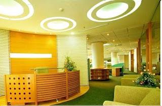 Màu sắc của văn phòng cân đối với ánh sáng