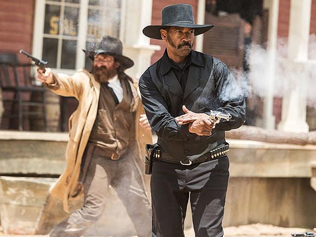 Denzel Washington joacă rolul lui Sam Chisholm în remake-ul The Magnificent Seven