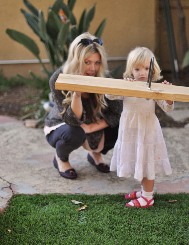 Family Thanksgiving, delilah at the seesaw