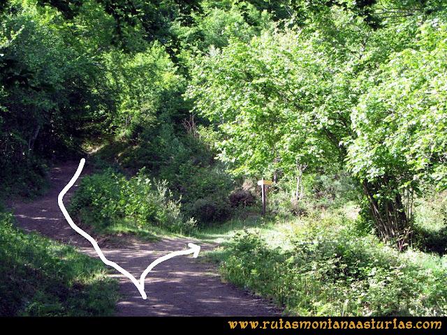Ruta Lindes - Peña Rueda - Foix Grande: Desvío a Las Escolmenas y Manín