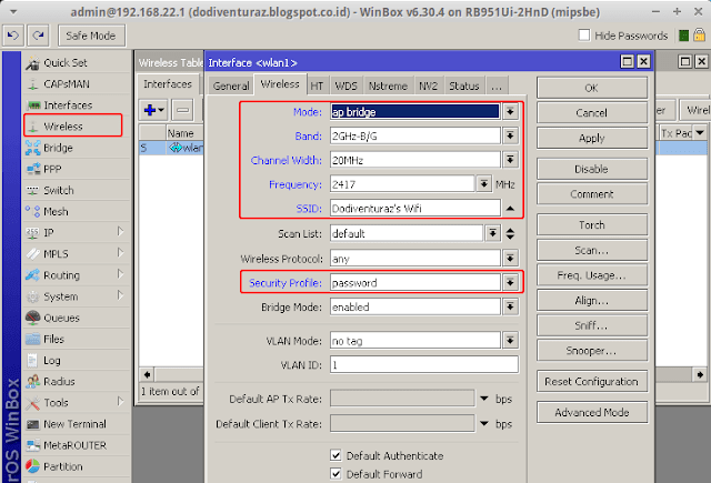 Cara setting wifi access point di mikrotik