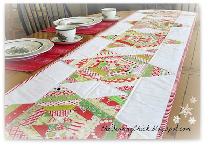 Christmas Table Runners To Sew.Quilt Inspiration Free Pattern Day Christmas Table Runners