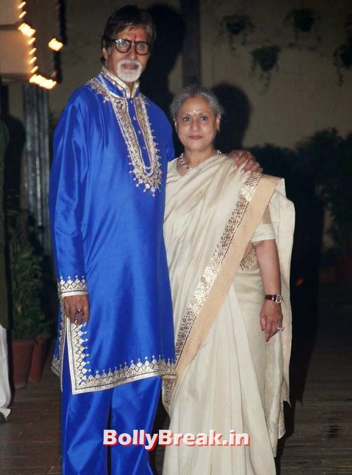 Amitabh Bachchan, Jaya Bachchan, Photos from Amitabh Bachchan's Diwali Bash 2014