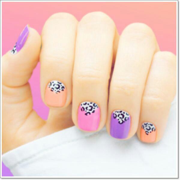 Colour full nail arts
