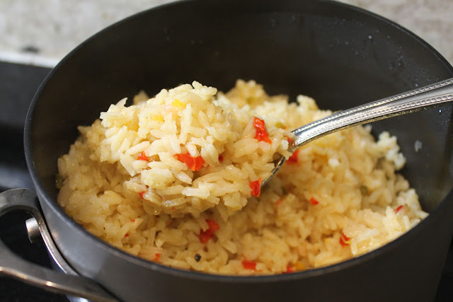 Make your confetti rice in 25 minutes.