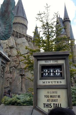 Waiting time to enter Hogwarts in USJ Osaka