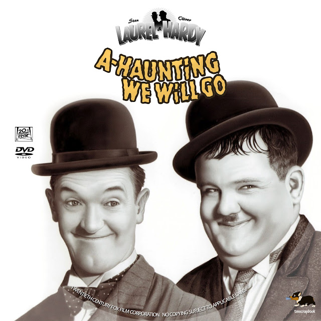 Laurel & Hardy: A-Haunting We Will Go DVD Label