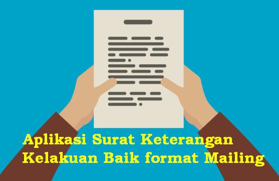 Aplikasi Surat Keterangan Kelakuan Baik format Mailing