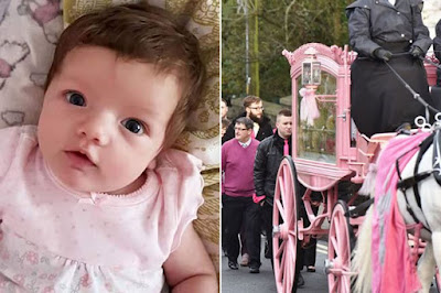 HEARTBREAKING: 3-MONTH-OLD TODDLER WHO DIED SUDDENLY IS LAID TO REST  IN A COFFIN PULLED BY A WHITE HORSE TO HER FUNNERAL