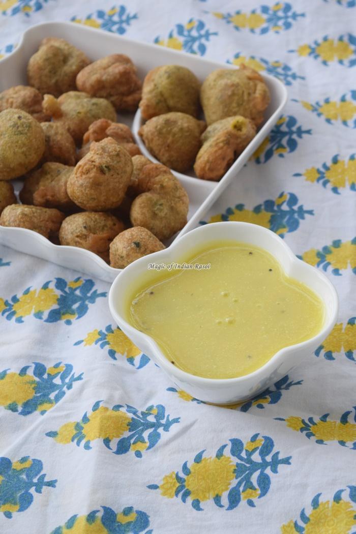Gujarati Farsan Kadhi Recipe - गुजराती फरसाण कढ़ी रेसिपी - Priya R - Magic of Indian Rasoi