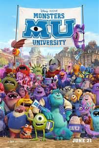 Monster University movie poster