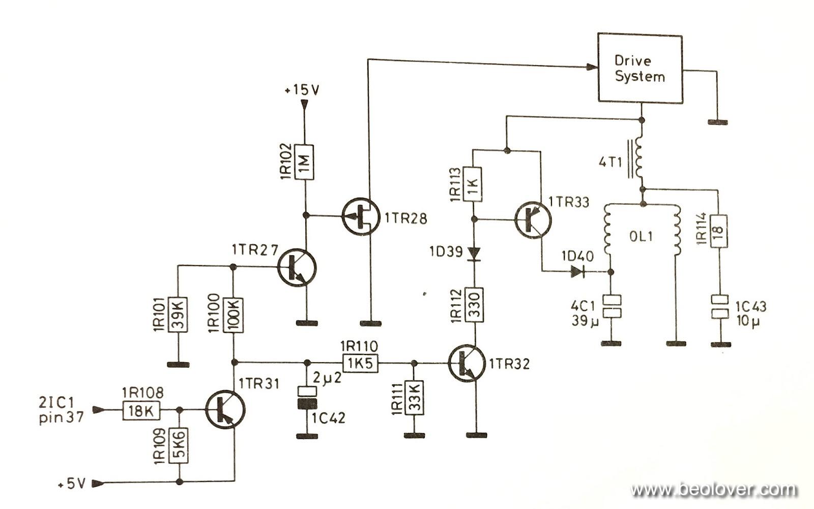 beolover beogram 8000 repair of platter brake circuit