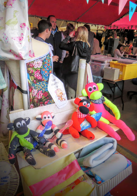 Sock monkeys at the craft market at Sligo Airport
