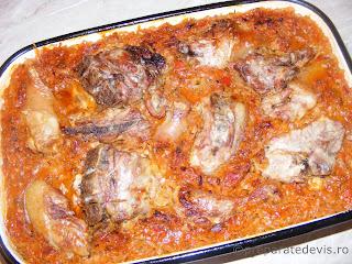 Varza cu carne de porc retete culinare,