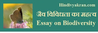 Essay on Biodiversity in Hindi