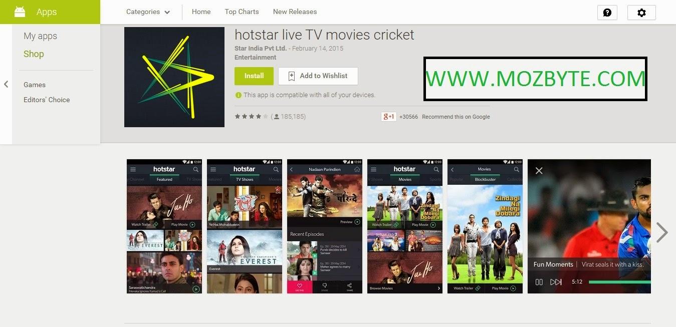 fast hotstar app download