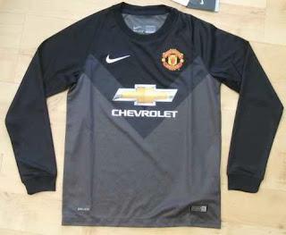 jersey grade ori, jersey Goalkeeper mu hitam, baju bola gk manchester united