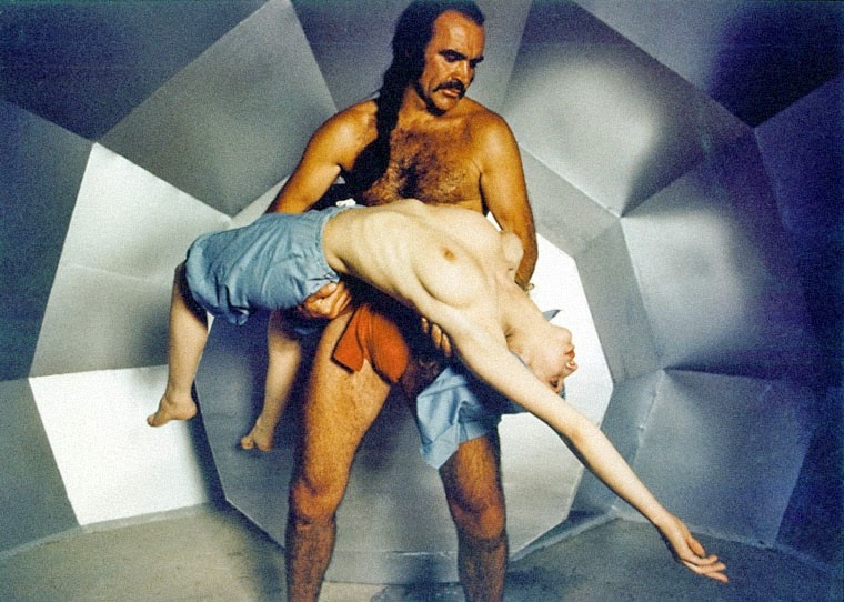 Sean 'Zed' Connery und eine unbekannte Schönheit aus dem Vortex in ZARDOZ (1974)