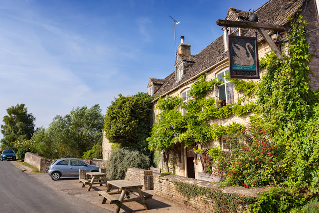 The Swan Inn at the Cotswold village of Swinbrook by Martyn Ferry Photography