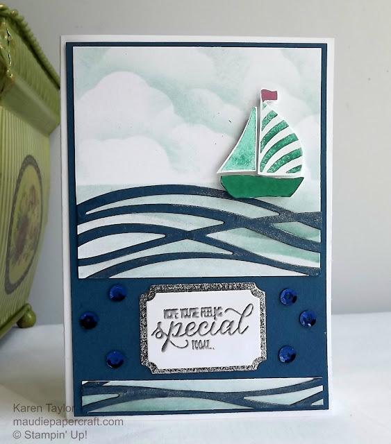 Stampin' Up! Swirly Bird boat card