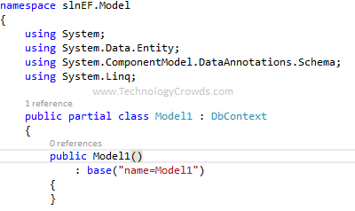 Entity Framework dbContext