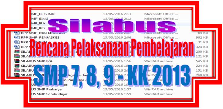 Silabus Dan Rpp Smp Kelas 7 8 9 Kurikulum 2013 Sd Negeri 1 Asemrudung