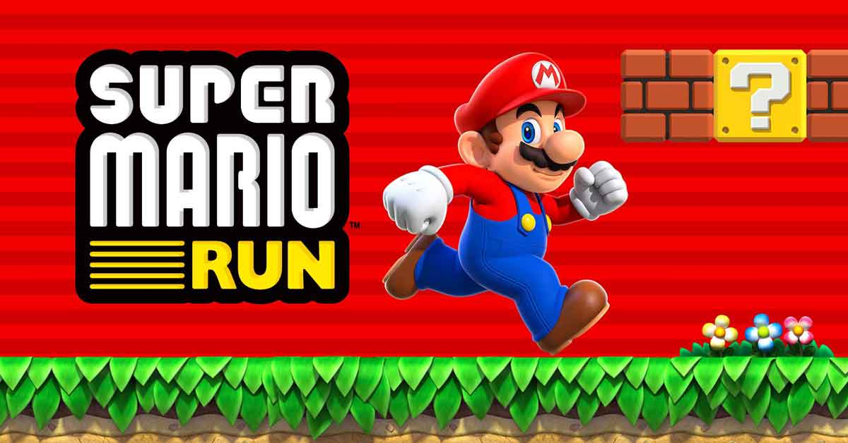 supermario run videogame poster