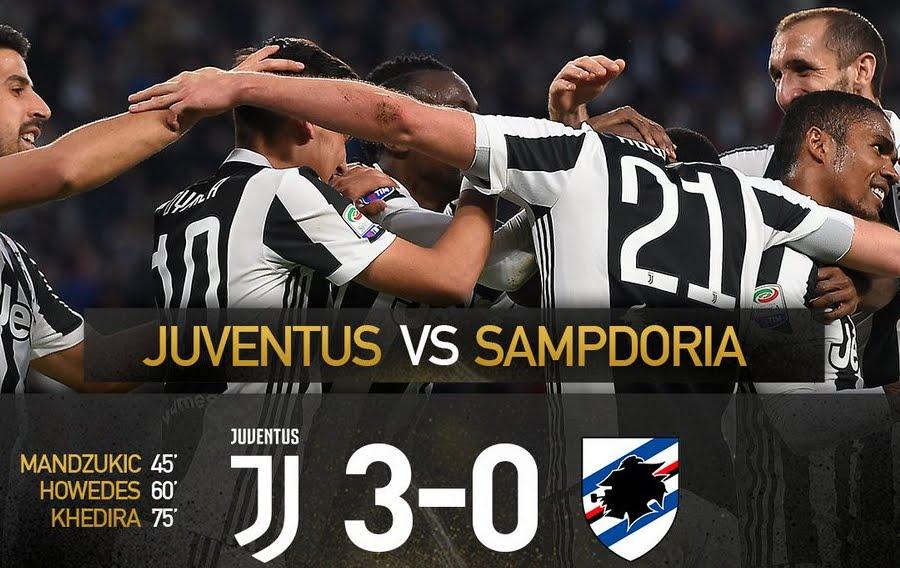 Juventus con Douglas Costa scatenato: 3-0 alla Sampdoria e Napoli a 6 punti
