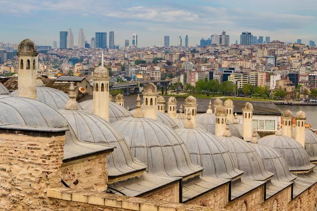 Panorama dalla Beyazit Camii-Istanbul