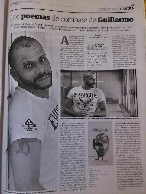 ENTREVISTA DE JORGE DÁVILA, EN EL PERIÓDICO EL DÍA, DE CANARIAS.