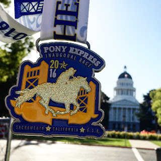 Pony Express 5K Medal by the Capital