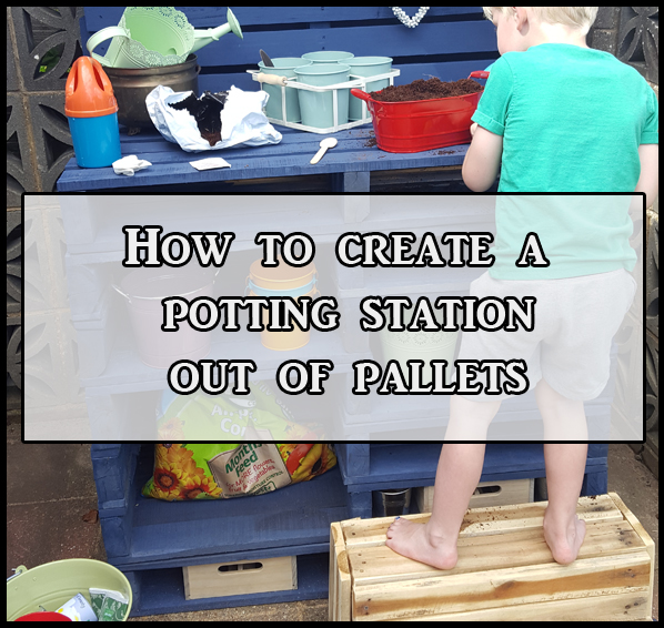 how to create a potting station out of pallets